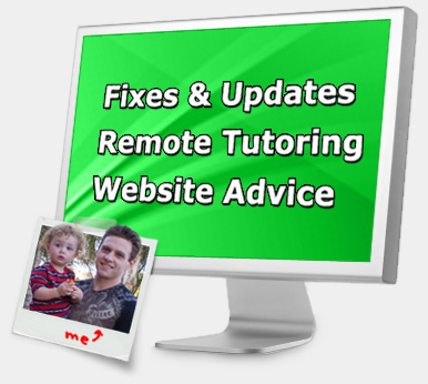 Website Help - Fixes Updates Tutoring and Advice